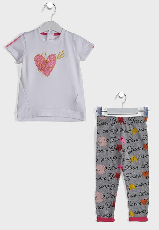 Infant Logo T-Shirt + Printed Sweatpants Set