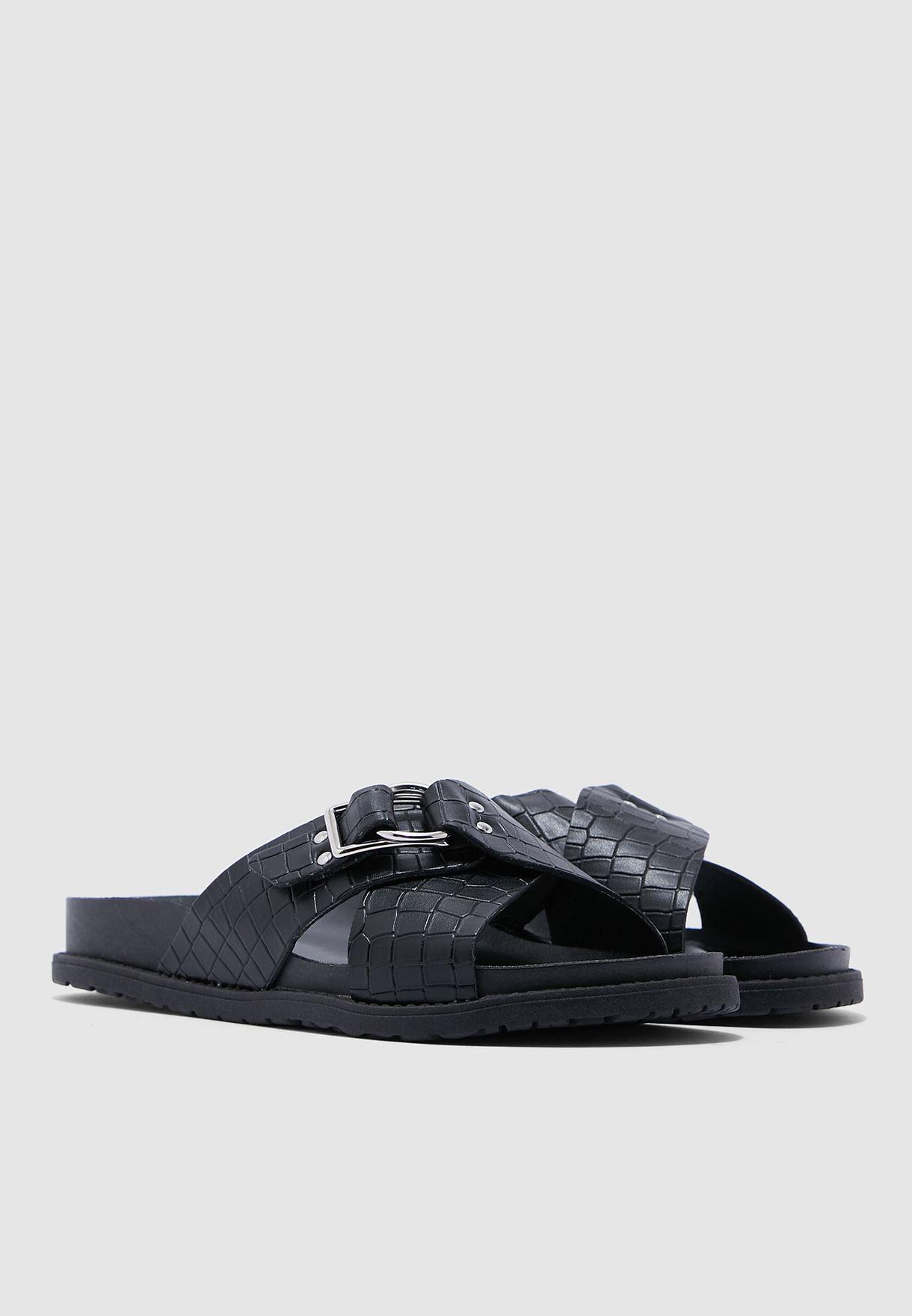 Hilton Footbed Sandals - Black