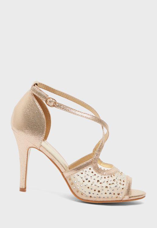 Cross Strap High Heel Sandal