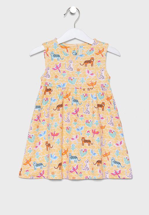 Kids Jungle Summer Dress