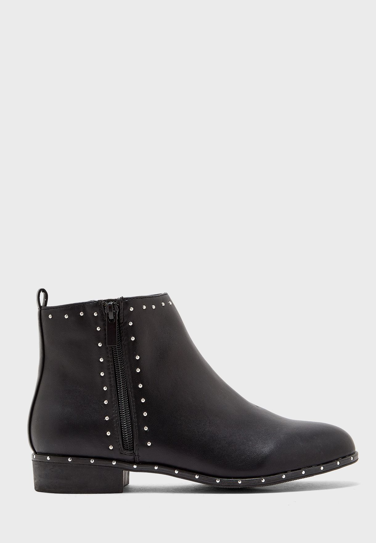 Wide Fit Bonnie Stud Ankle Boot