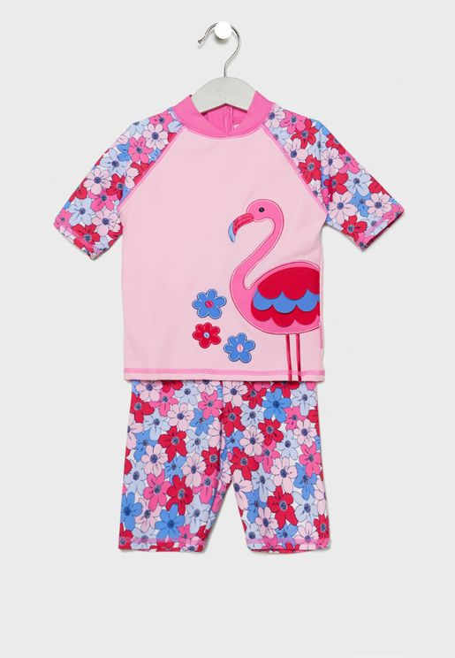 Kids 2 Piece Printed Swim Set