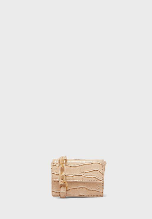 Crossbody Bag In Mock Croc