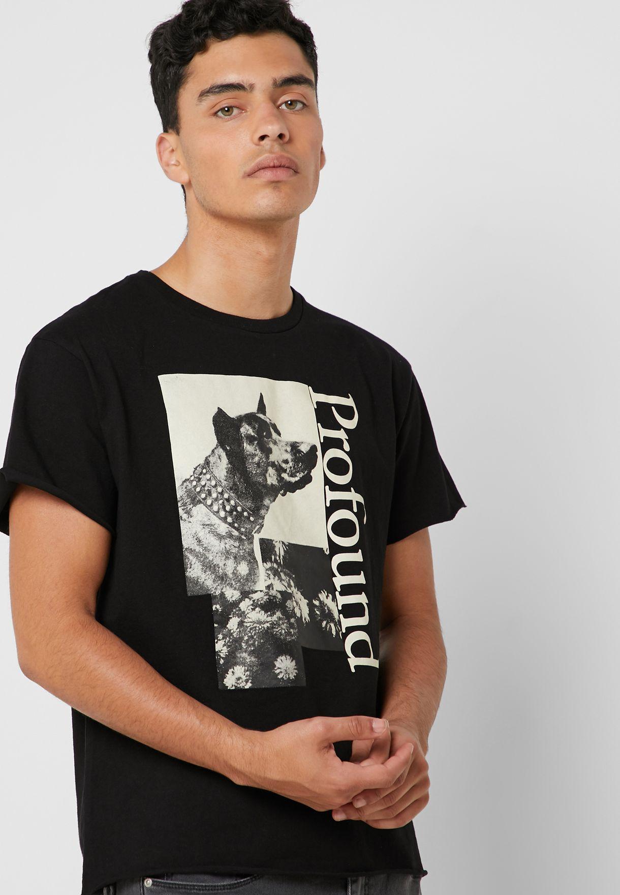 Flower Dog Graphic T-Shirt