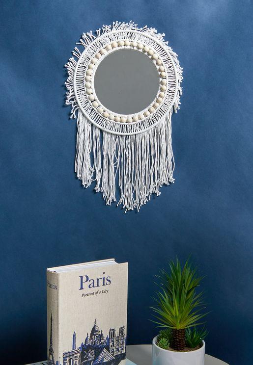 Macrame Tassel Mirror