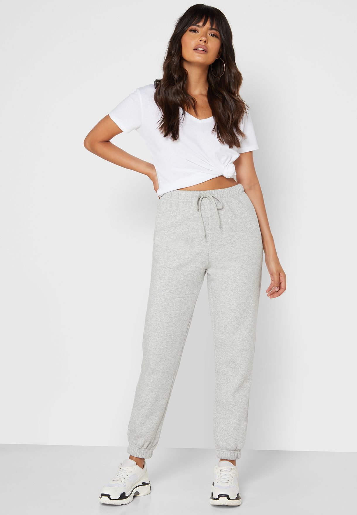 Tie Waist Sweat Pants