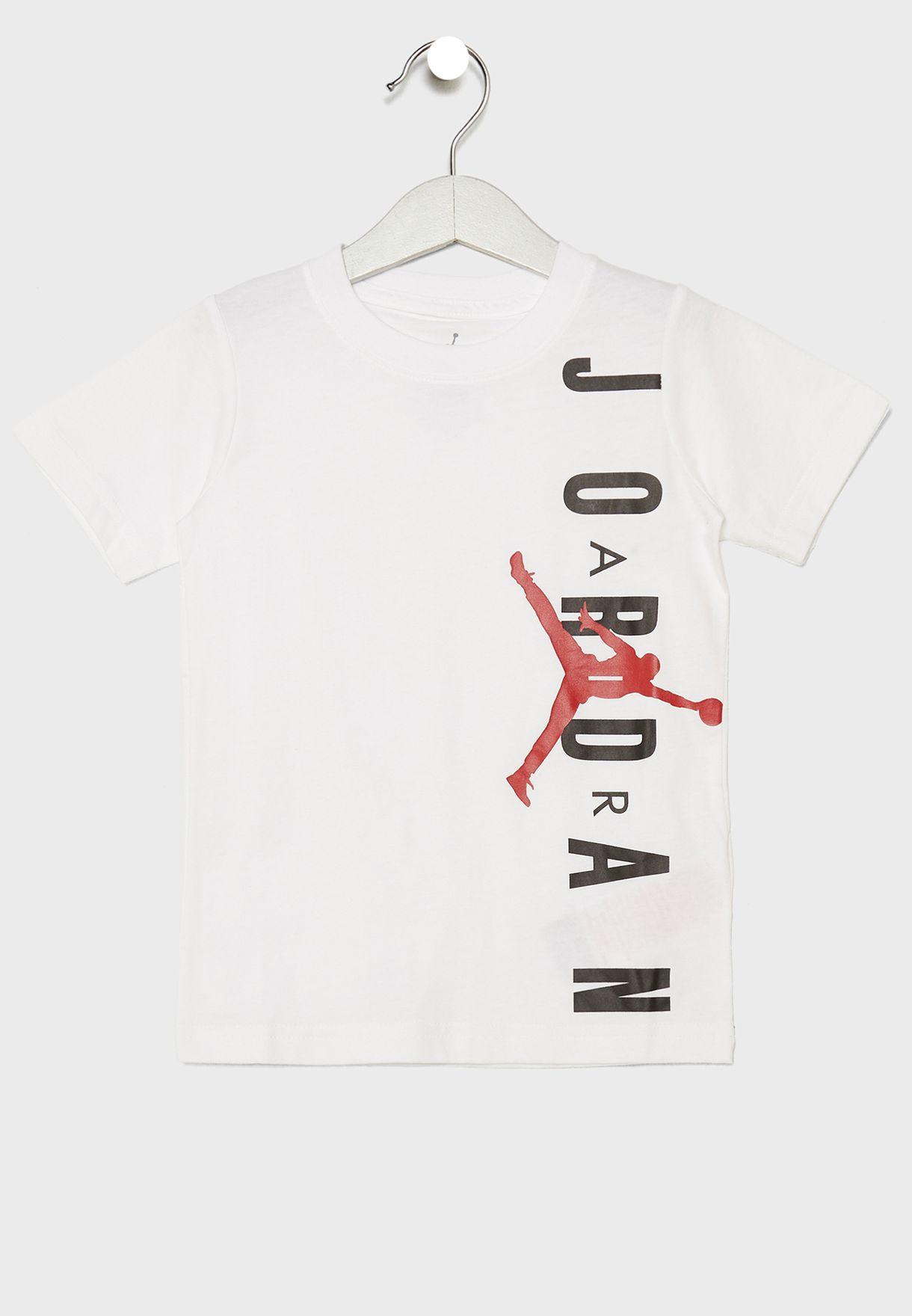 82559efe7495c2 Shop Nike white Kids Jordan Jumpman T-Shirt 855735-001 for Kids in ...