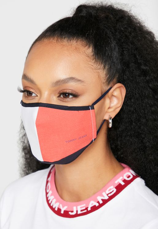 Contrast Face Mask