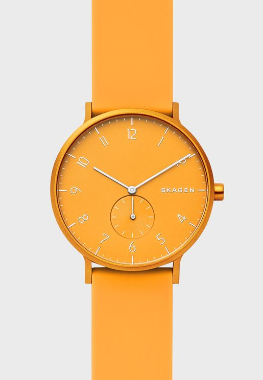 Aaren Silicone Strap Watch
