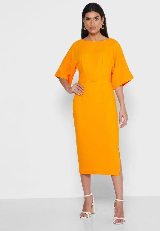 فستان كيمونو بشق جانبي