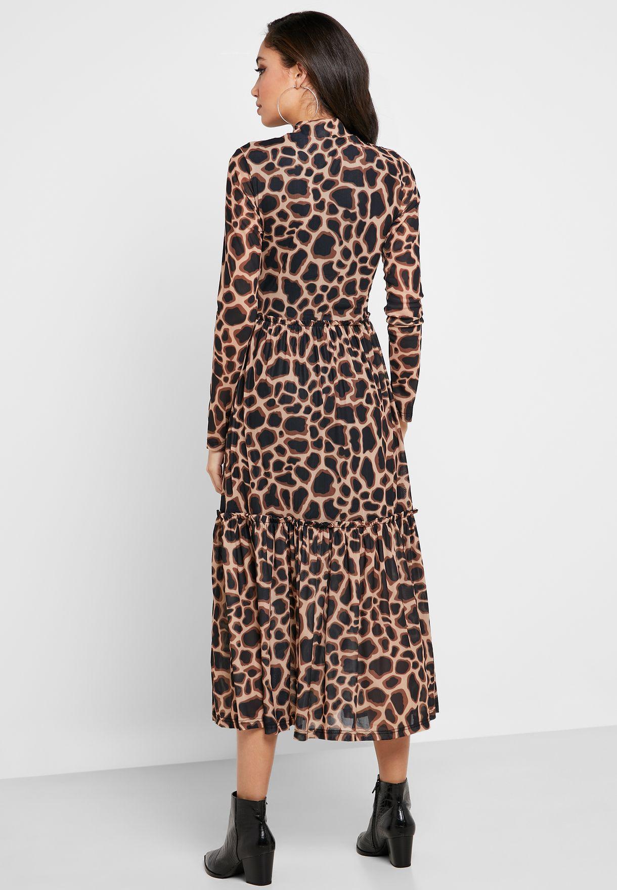 Printed Sheer Dress