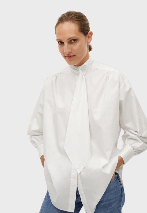 قميص طويل بأربطة عنق