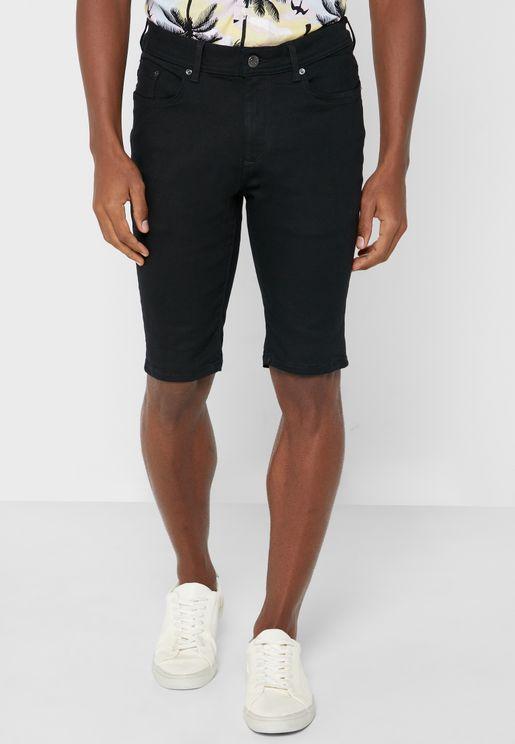 Skinny Denim Shorts
