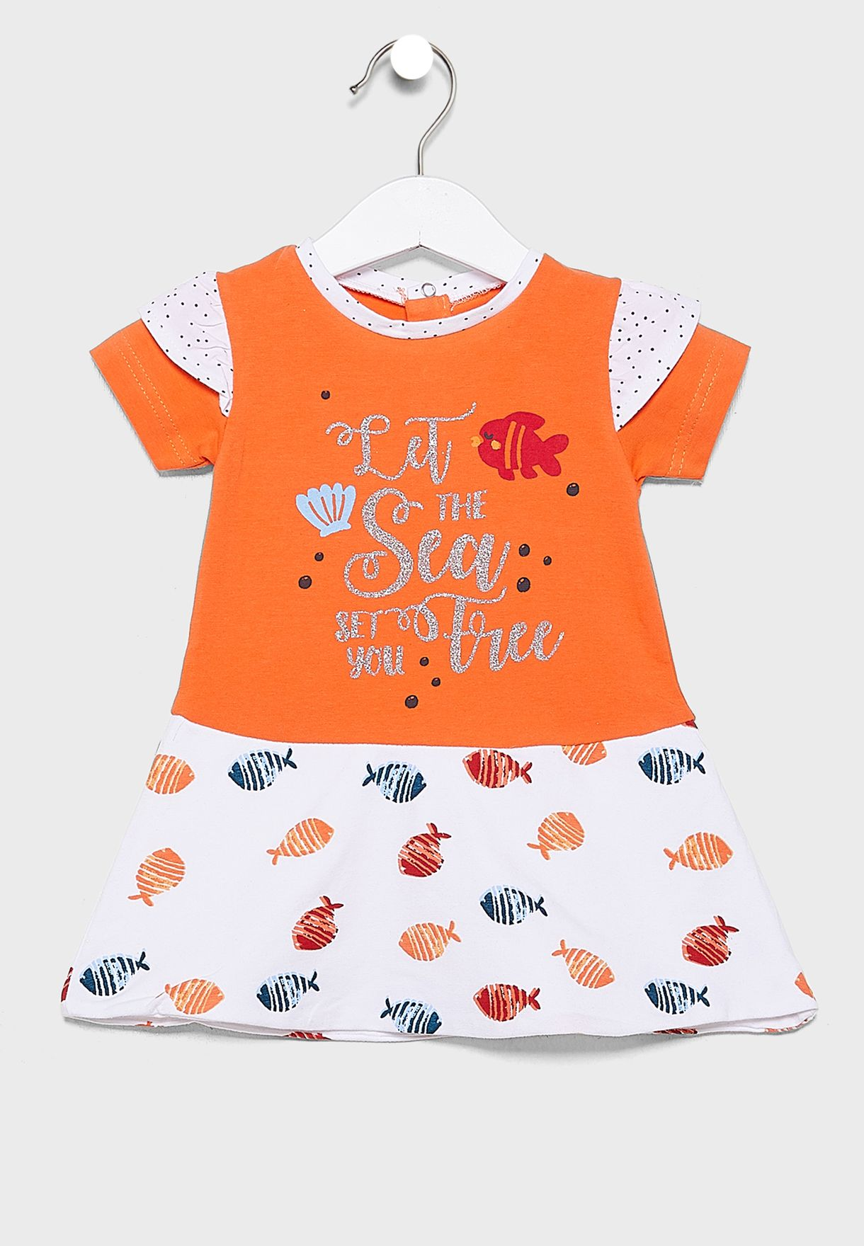 Infant Graphic Dress + Knicker Set