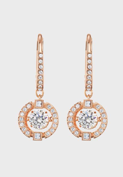 Sparkling Disc Drop Earrings