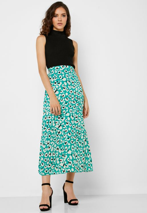 Printed Midaxi Skirt