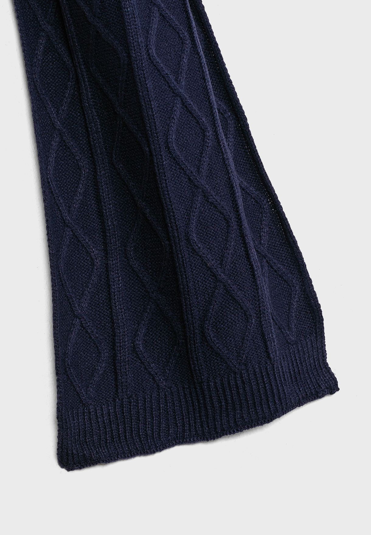 Mens Knitted Cable Scarf