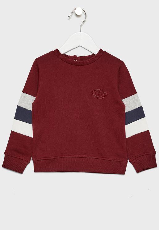 Infant Tricolor Sweatshirt