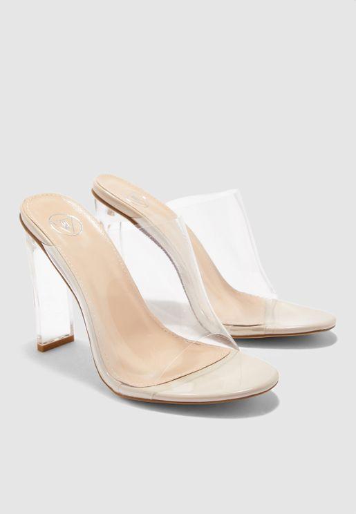 Illusion Heel Clear Sandal