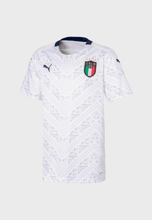 Youth FIGC Italia Away Replica T-Shirt