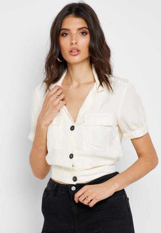 قميص قصير بازرار