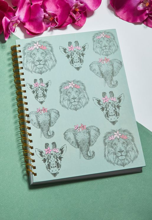 A4 Safari Animal Notebook