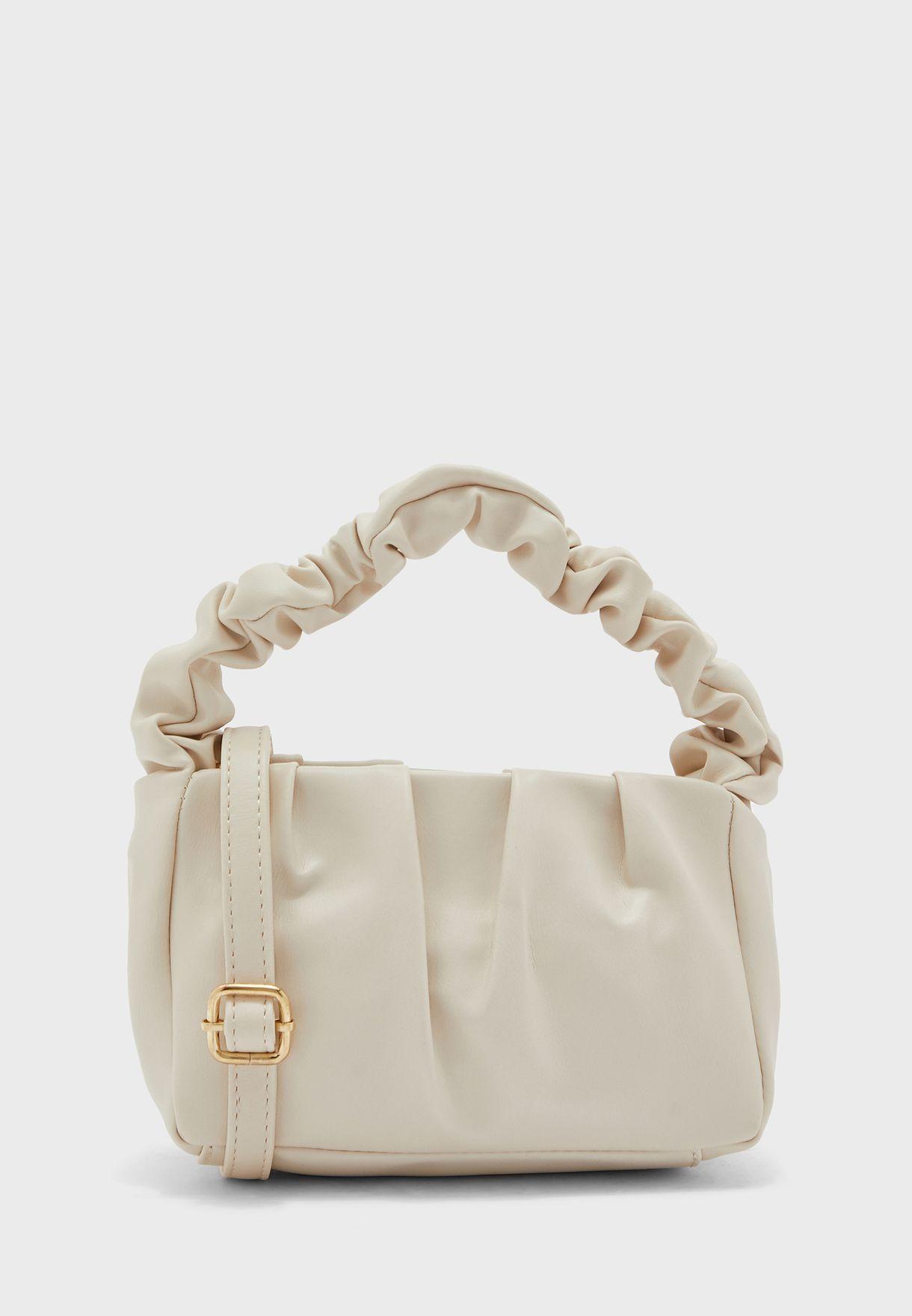 Ruched Handle Mini Handbag