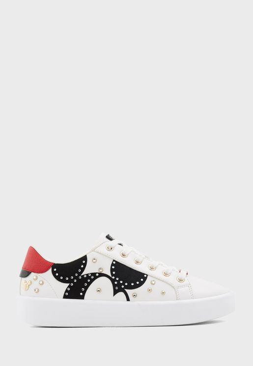 Heymickey Low Top Printed Sneaker - White