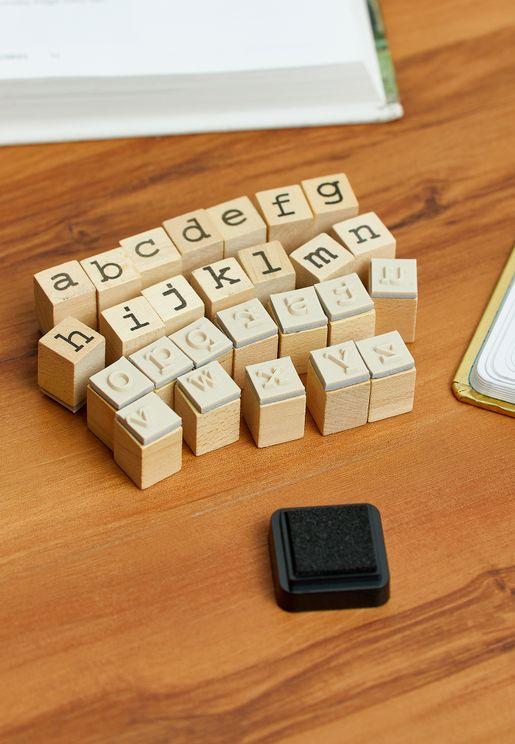 Letters Stamp Set