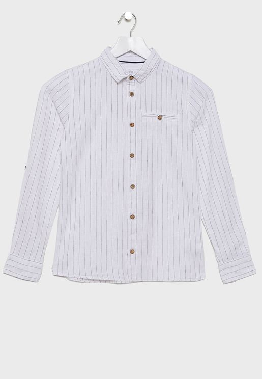Kids Stripe linen Shirt