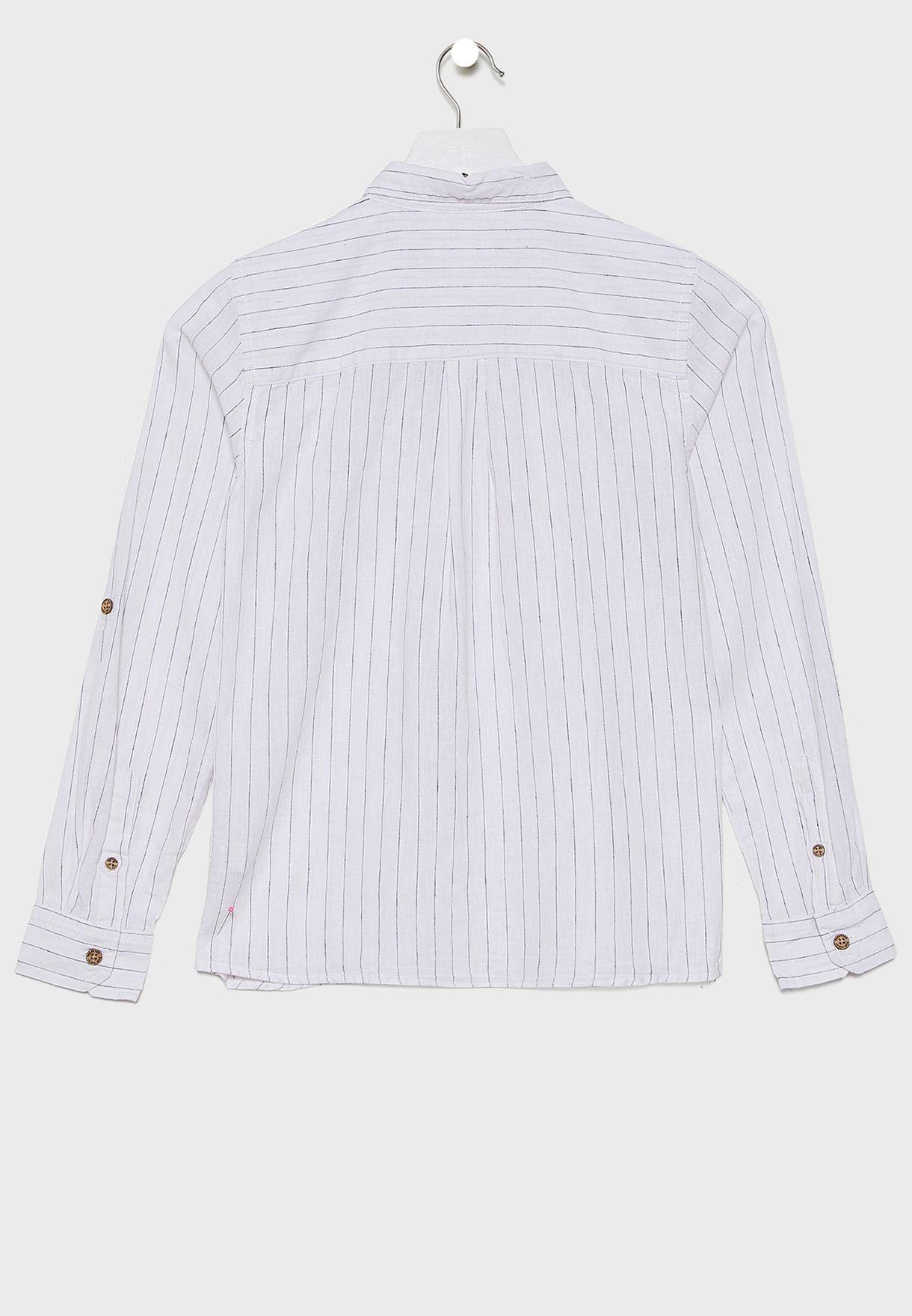 Kids Stripe linen Shirt