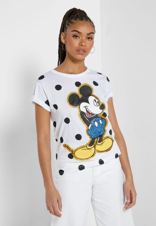 Mickey Mouse Polka Dot T-Shirt