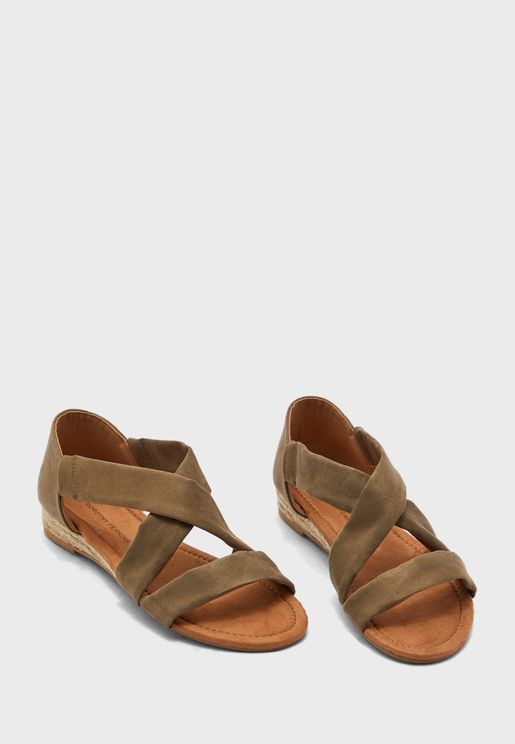 Ream Cross Over Mini Wedge Sandal
