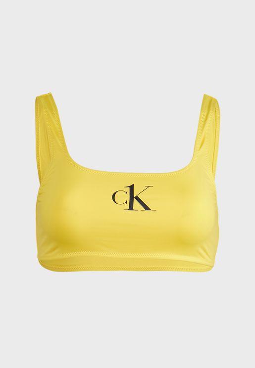 صدرية بيكيني بشعار الماركة