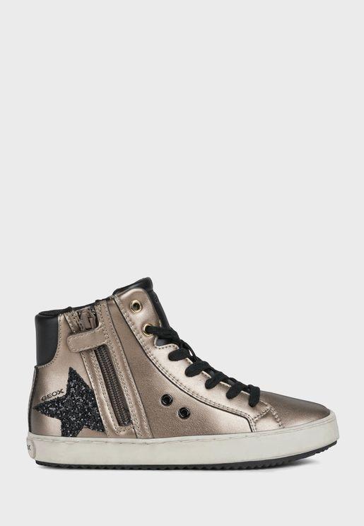 حذاء سنيكرز باربطة وسحاب