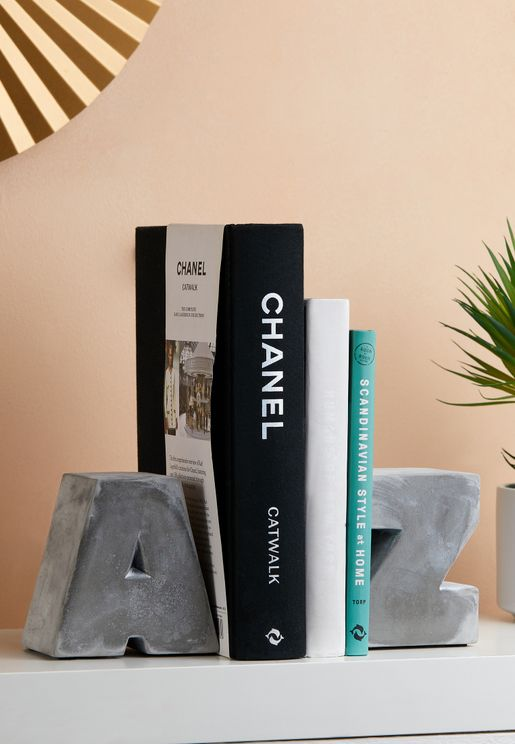 A To Z Cement Bookends