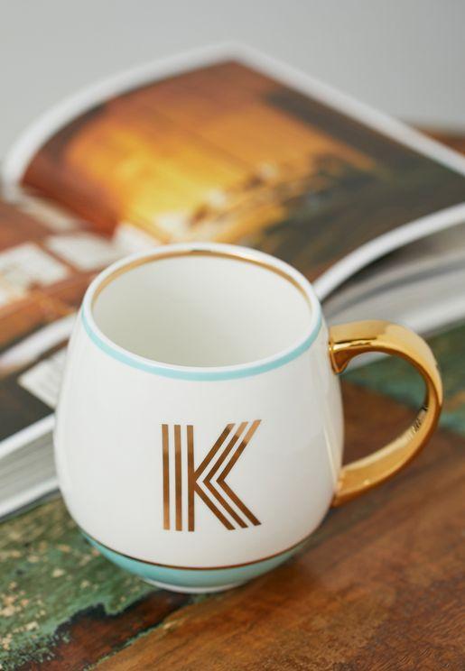 Initial K Mug