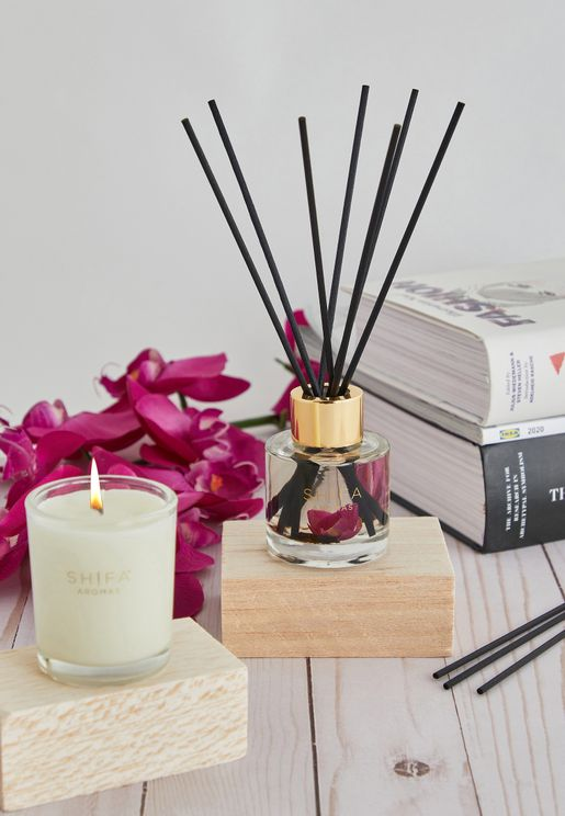 Rise Otto, Oud & Peony Candle & Diffuser Set