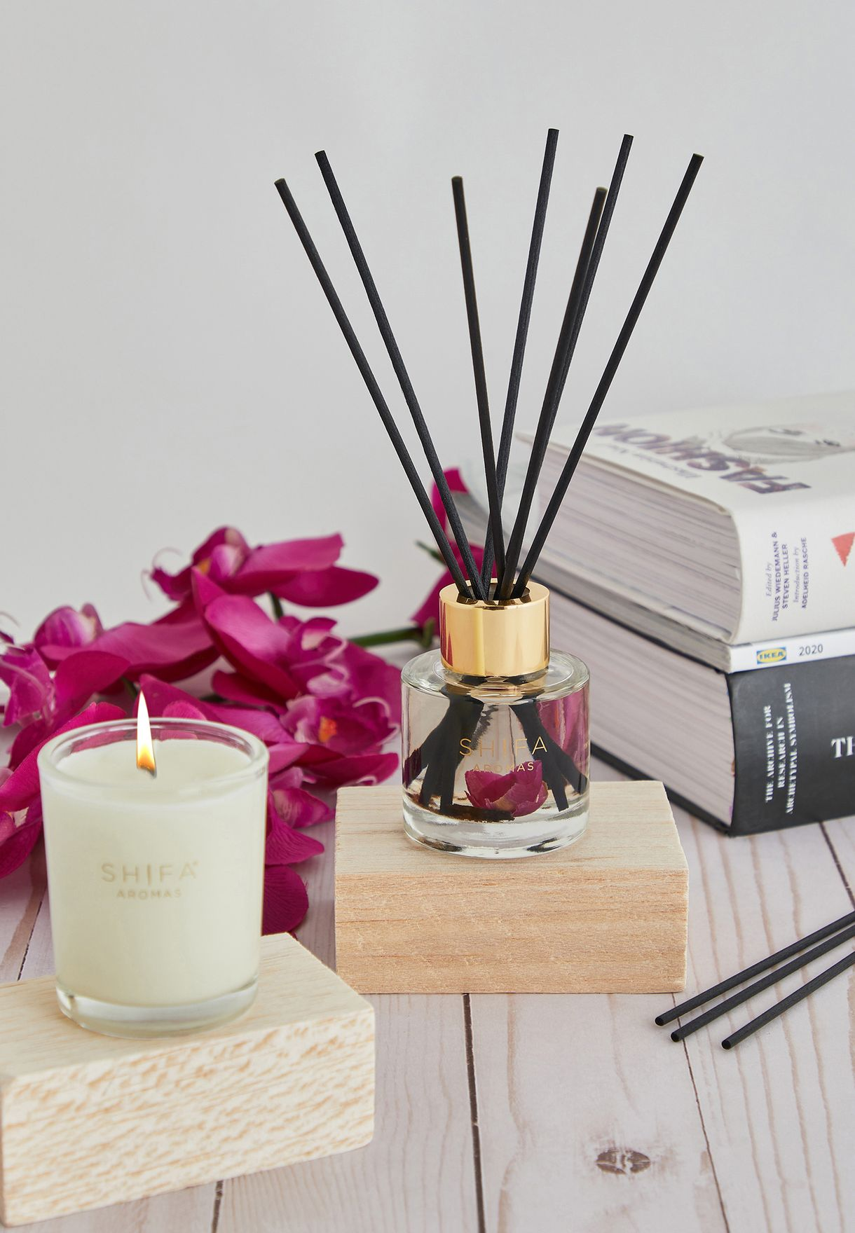Rose Otto, Oud & Peony Candle & Diffuser Set
