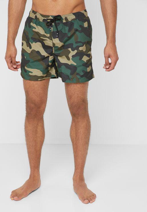 b7c8b567f706dd Cali Camo Swim Shorts