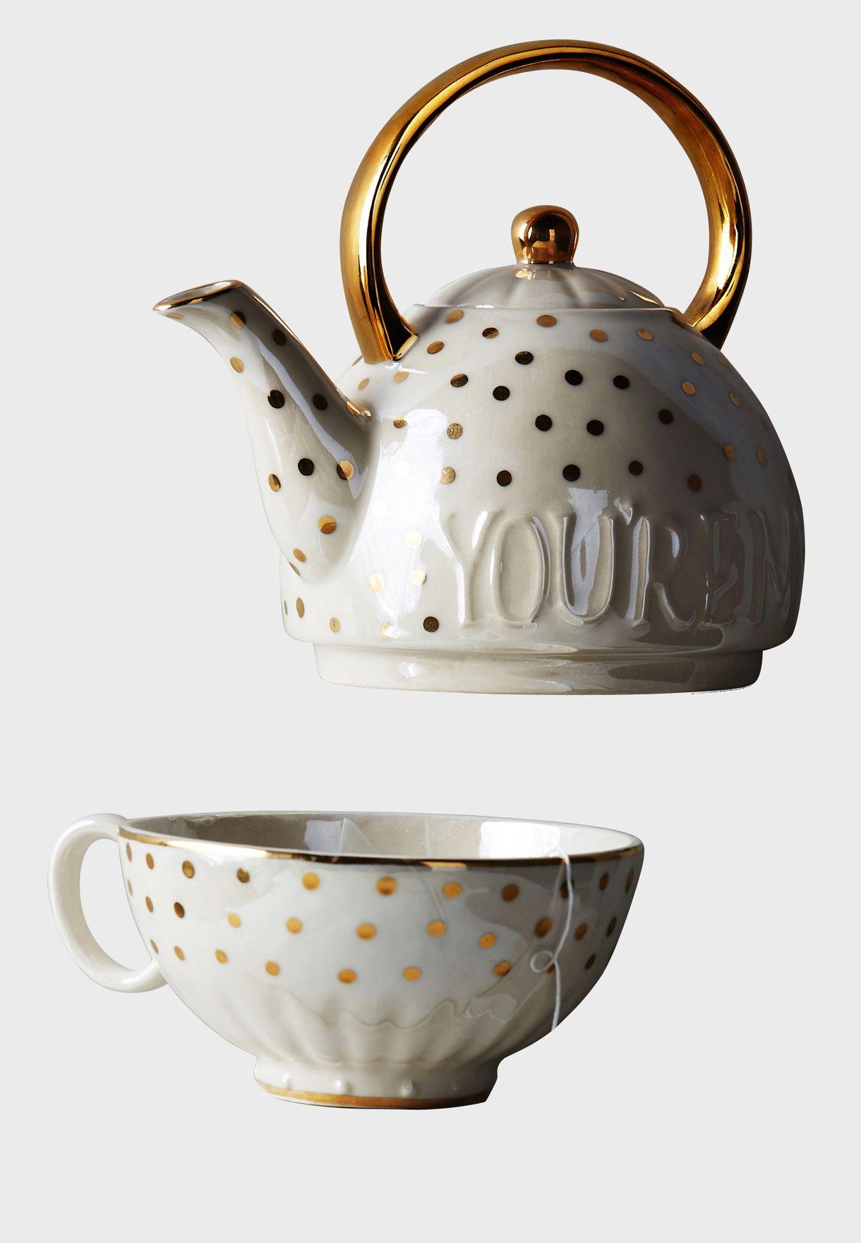 ابريق شاي من الخزف