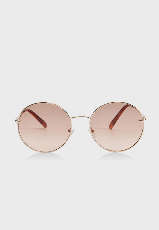 Ali Copper Rounded Sunglasses