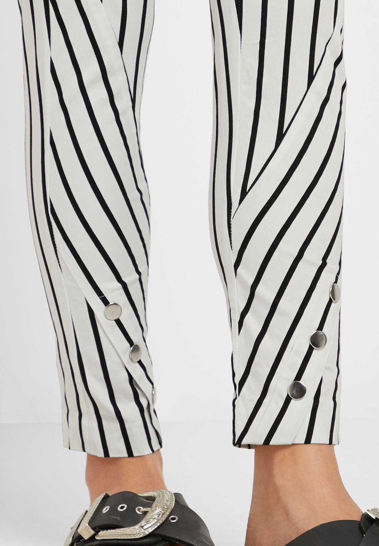 Striped High Waist Pants
