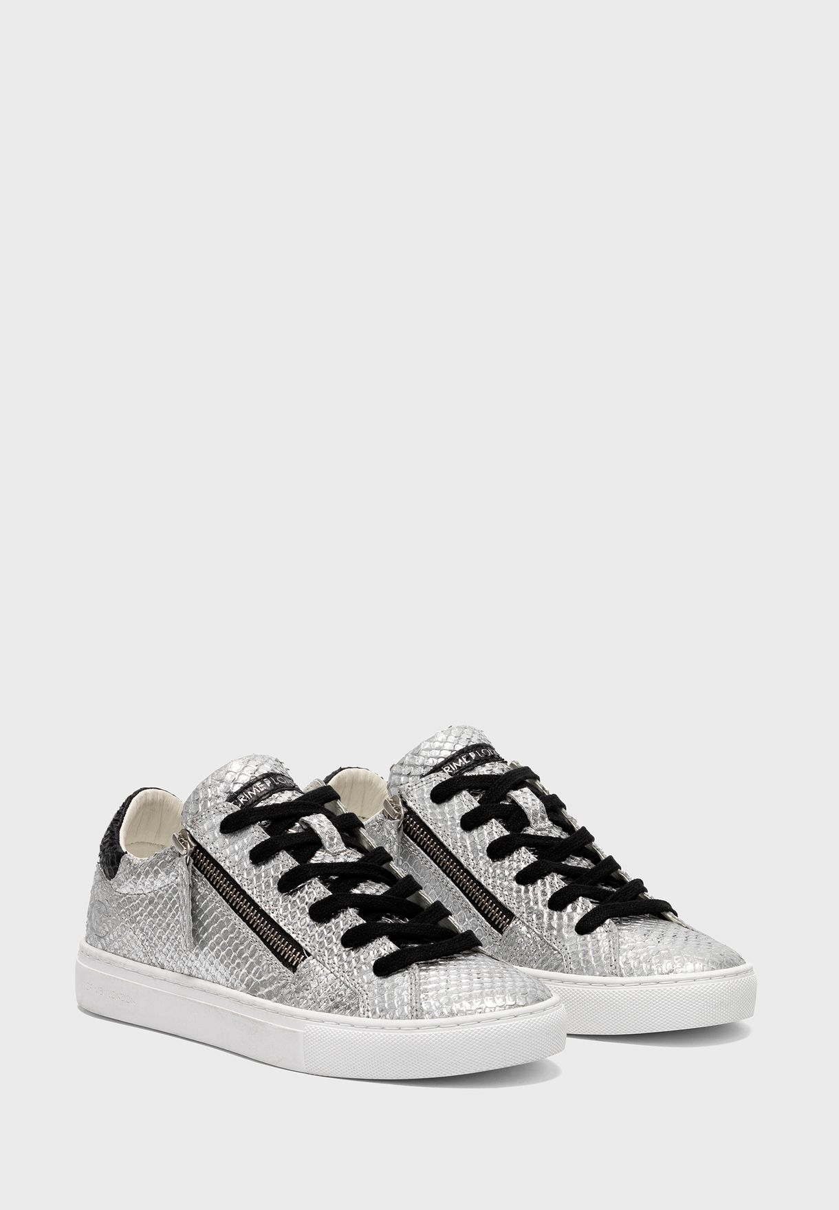 Double Zip Low Top Sneaker