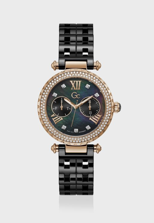 Primechic Large Size Ceramic Strap Watch