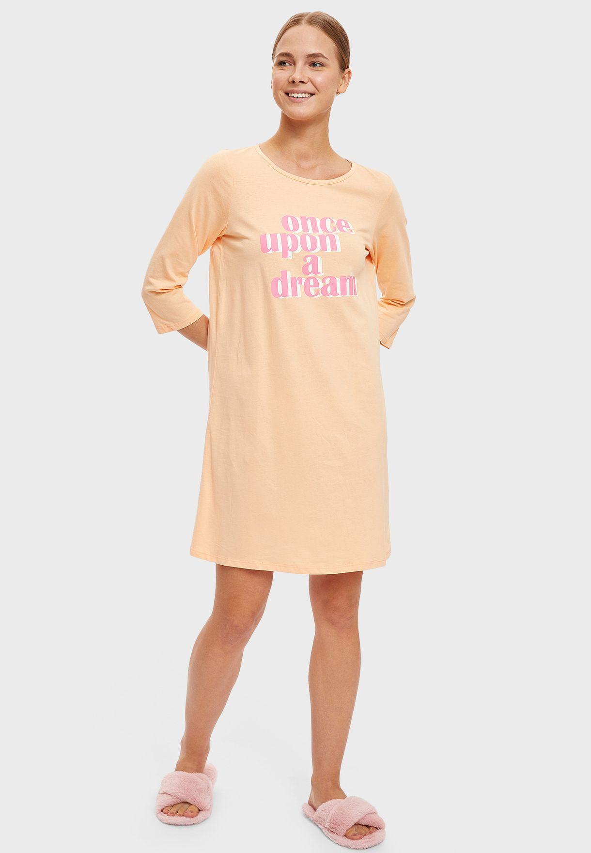 Slogan Night Dress