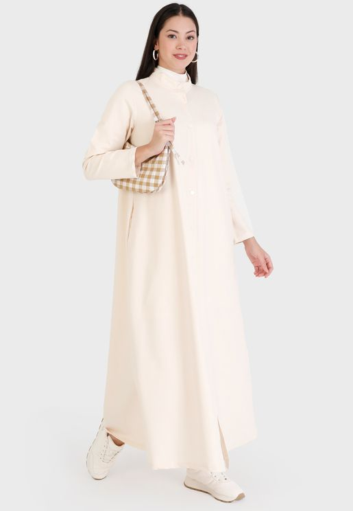 Pocket Detail Longline Coat
