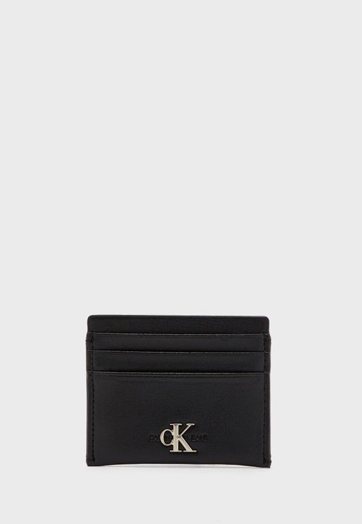 Logo Detail Multi Compartment Card Holder