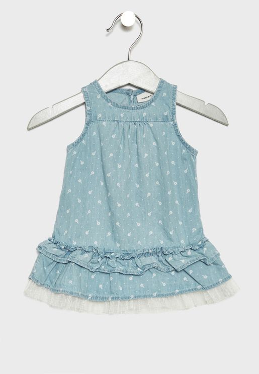 Infant Layered Denim Dress