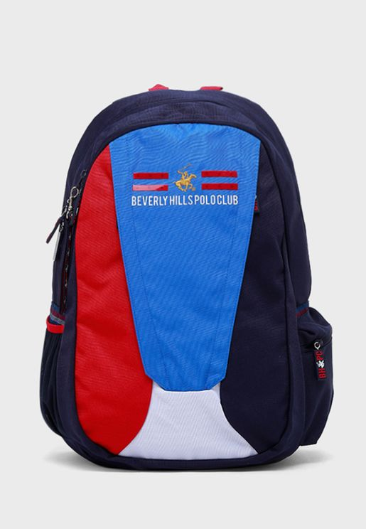 Kids Colour Block Backpack